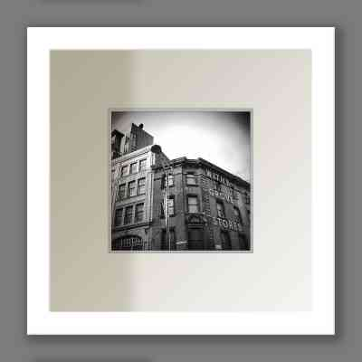 Black and White Withy Grove Stores Print, Shudehill | Micro Manchester Series Micro Manchester colour