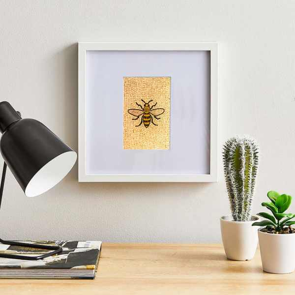 Manchester Bee Framed Oversized Mount Poster Art and Gift Ideas Bee 3