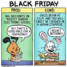 The Reality of Black Friday (cartoon)