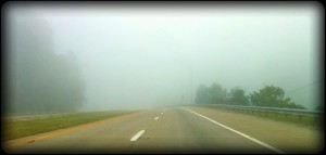 Foggy Morning today.. The road goes somewhere!