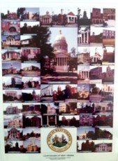 Pics of WV County Courthouses at WV Assn of Counties HQ today