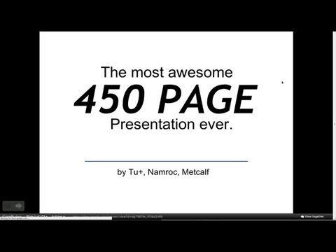 Awesome 450 slide presentation in under 2 minutes! Google Slam Demo