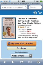 "Our men's discussion book, ""Man in the Mirror"" is finally available on the Kindle."