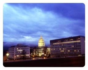 Beautiful view of the Capitol this morning