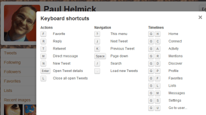 Just discovered keyboard shortcuts on twitter. Quite the timesaver they are!