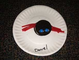 Daniel's amazing spider cookie