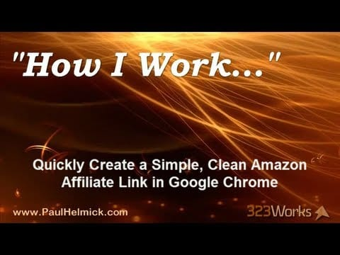 How to Create an Amazon Affiliate Link in Google Chrome