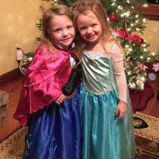 Anna and Elsa. Every little girl is a princess at heart.