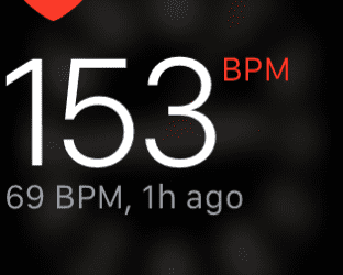 Now that's more like it. Target heart rate.