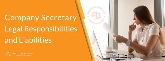 Singapore Company Secretary Legal Responsibilities and Liabilities