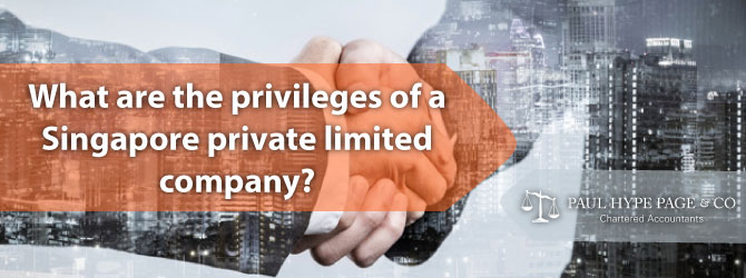 What are the privileges of a SG Private Limited Company