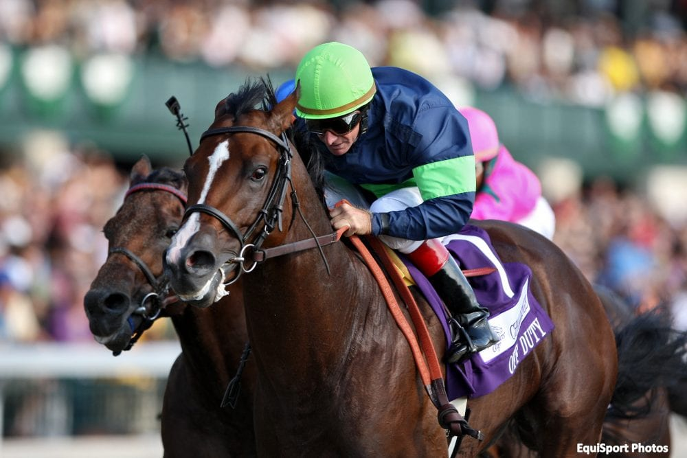 Larry Melancon piloted Off Duty to victory in the G3 Phoenix Stakes in 2007