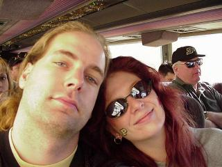 On the travel bus to the Rose Bowl 2001