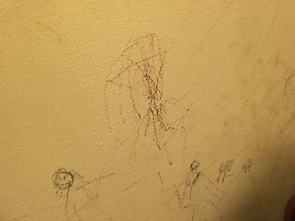 scribbles on the wall