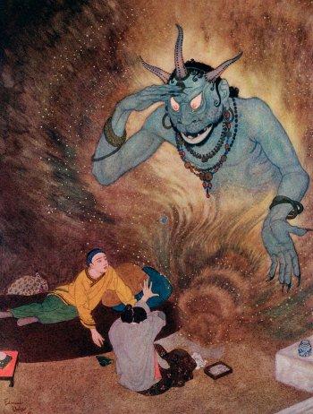 Illustration d'Aladdin par Edmund Dulac