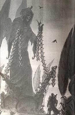 Illustration tirée de La légende du Bretteur