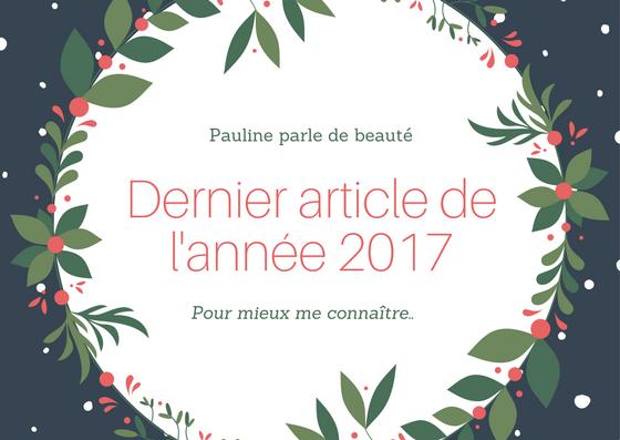 Dernier article de l'année 2017 (1)