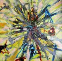Trauma- technika mieszana na płótnie 50x50cm. obraz sprzedany