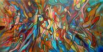Taniec życia1 - akryl na płótnie 50x100cm, sprzedane