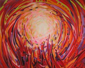 White-hole, technika mieszana na płótnie 150x120cm. obraz sprzedany