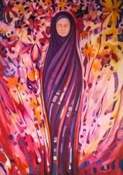 Kokon2 - farby akrylowe na płótnie 100x70cm