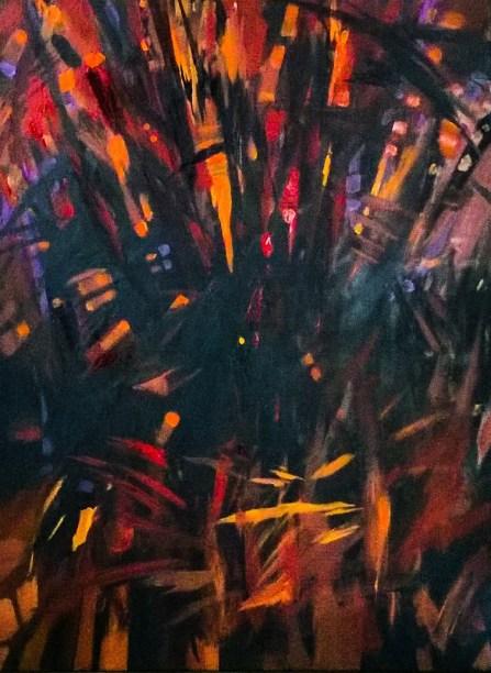 Samotność - akryl na płótnie 80x50cm