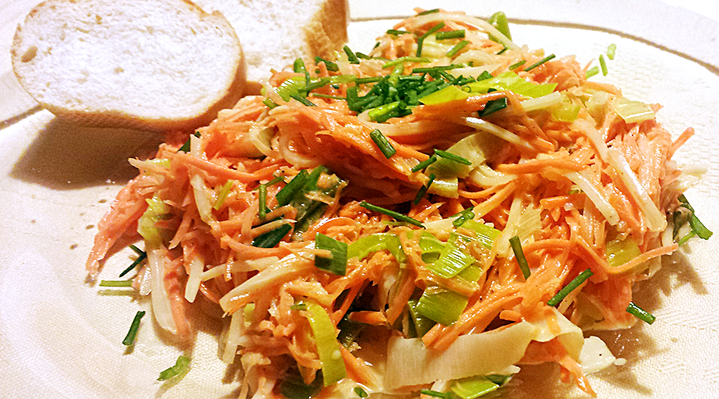 Leek Salad with Carrot and Celery