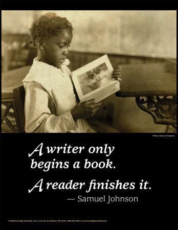 A writer starts a book