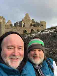 Tim and Paul at Dunluce Castle in Northern Ireland