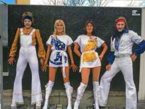 Tim and Paul as ABBA