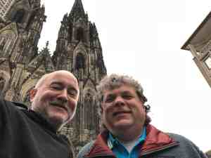 Tim and Paul at Cologne Cathedral