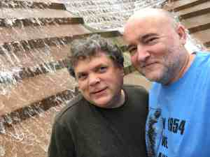 Tim and Paul at the Water Gardens in Fort Worth, Texas