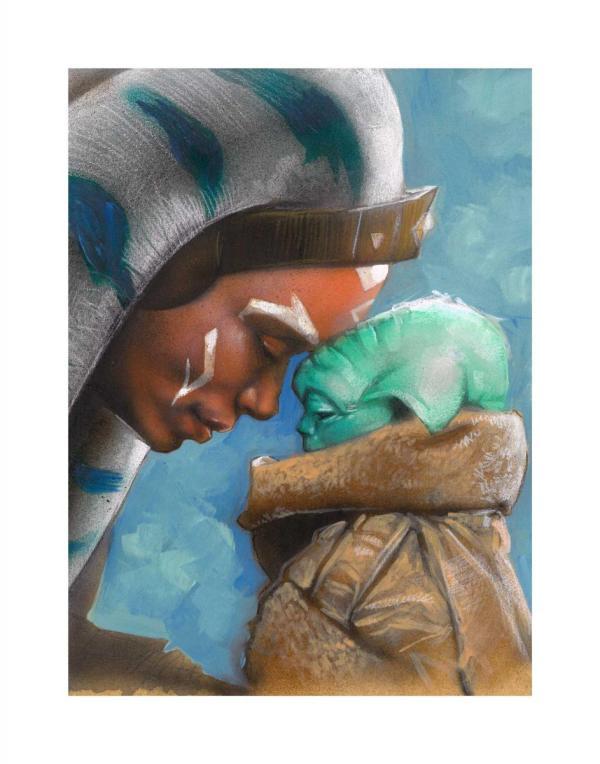 Ahsoka and Grogu - The Mandalorian - Art by Paul Maitland