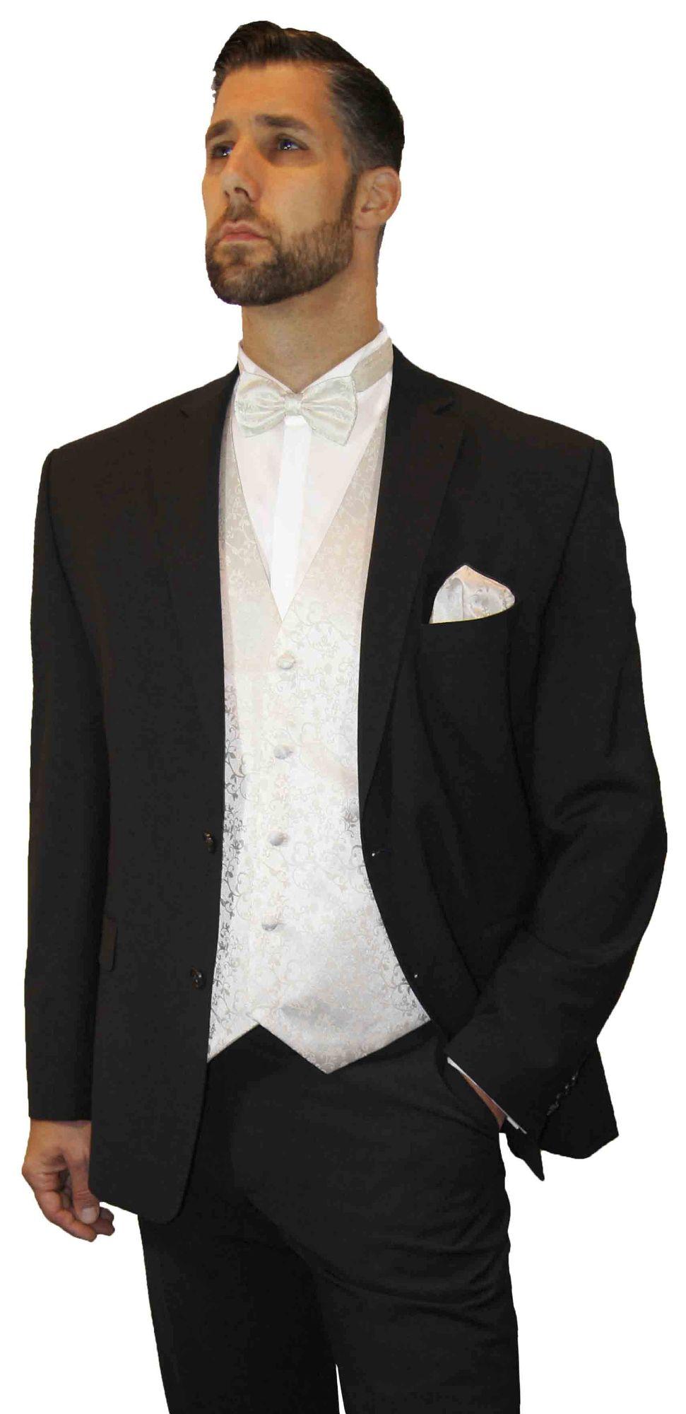 Set Herren Fliege Kummerbund Einstecktuch Business Anzug Hochzeit