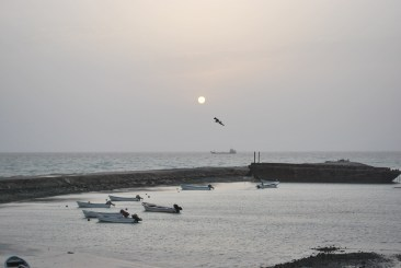 The sun sets over Masirah