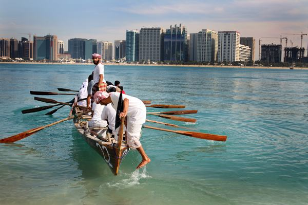 A tradtional Arabic rowing race