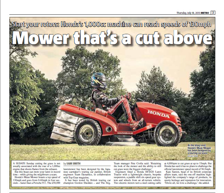 Mower that's a cut above