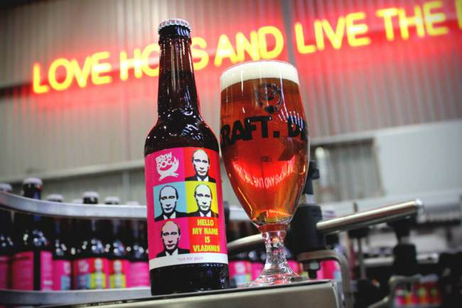 Anti-Vladimir Putin beer launched to support gay rights at Sochi Winter Olympics