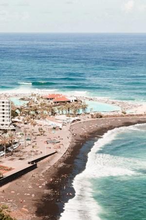 tenerife beach puerto de la cruz