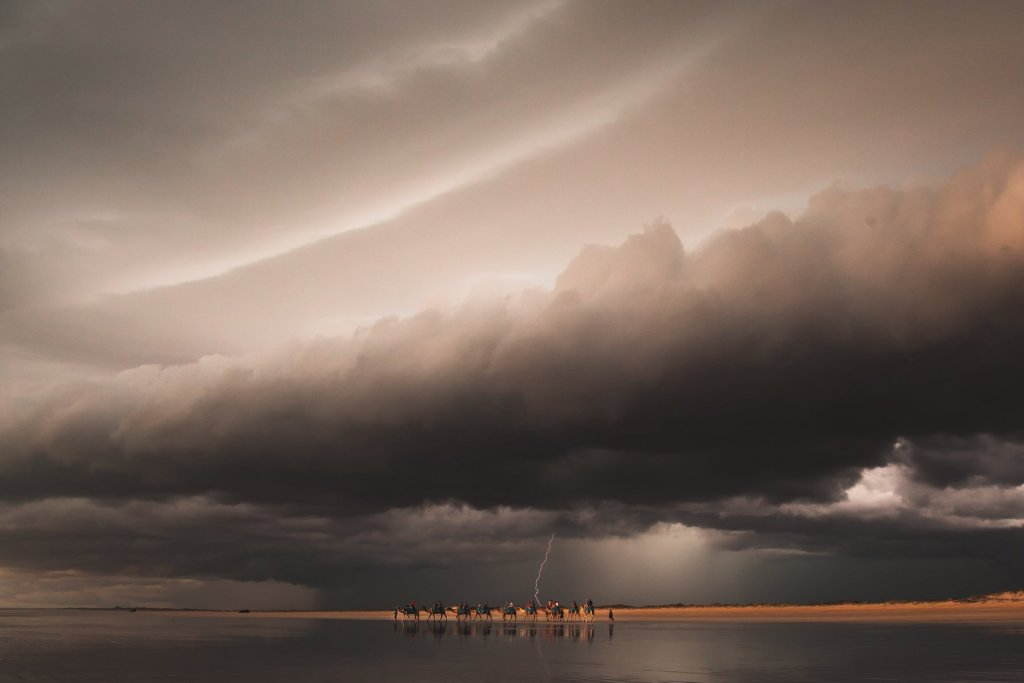 cable beach camels storm