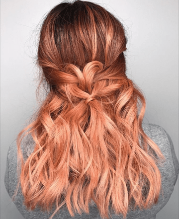 Blorange 2017s Answer To The Rose Gold Hair Trend