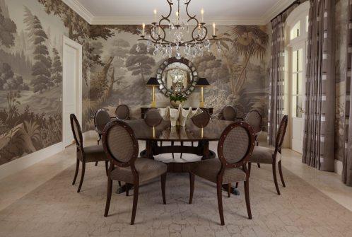 Tropical Views sepia dining room