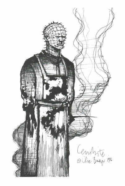 Clive Barkers Drawing of Pinhead