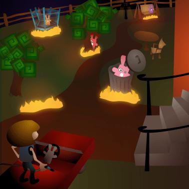 Bunnies on Fire