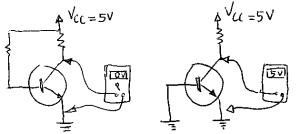 Circuito de transistor saturado e cortado