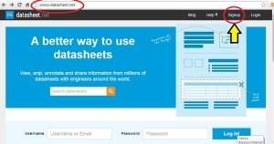 Página do data sheet net