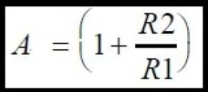 Fórmula do Ampop não inversosr