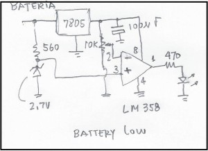 Esquema do circuito de Battery Low
