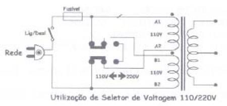 Ligaçao chave 110 220 4 fios