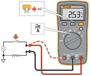 Medindo corrente AC